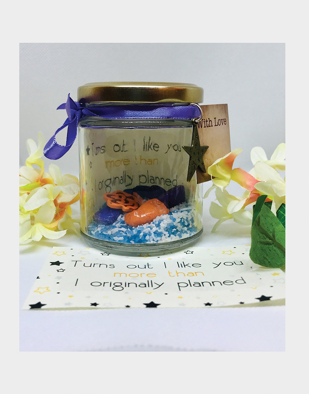 Like you more than planned Message Jar
