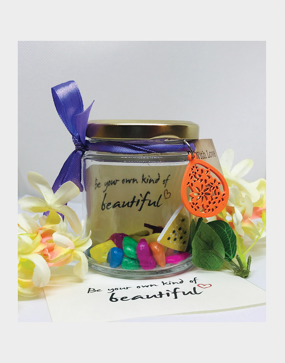 Be your own kind of beautiful Message Jar